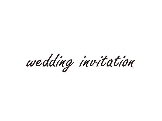 ウェディングスタンプ メッセージ(wedding invitation) WD-78