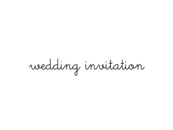 ウェディングスタンプ メッセージ(wedding invitation) WD-79