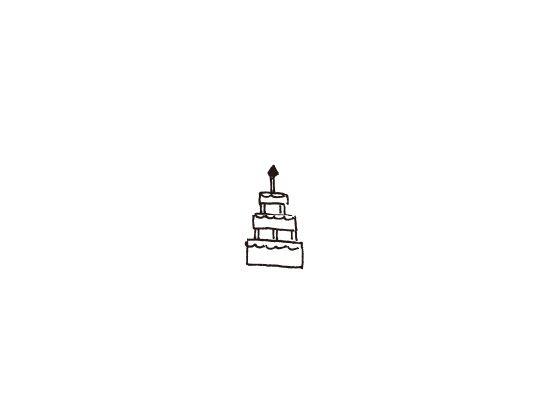 ウェディングスタンプ プチスタンプ ケーキ